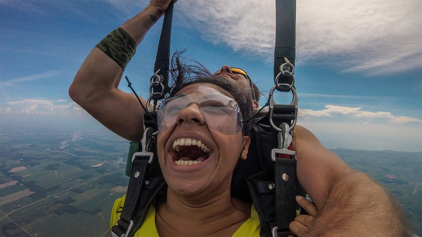 How to download your sky dive video