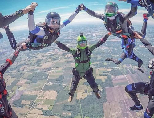 Female Skydivers in Ontario